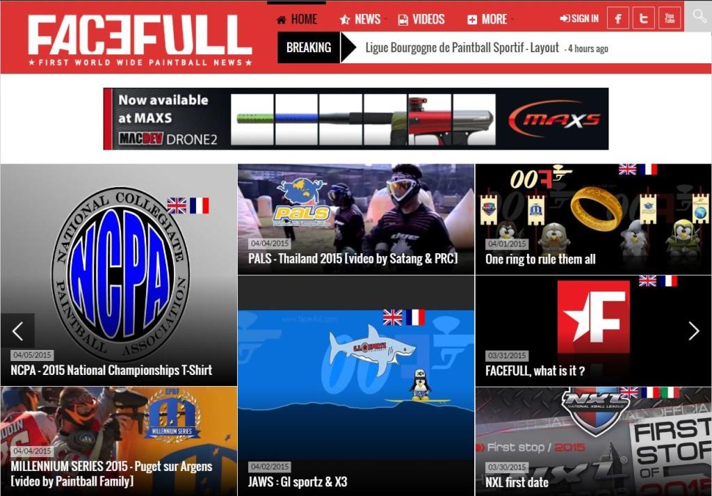 Schermata dalla home page di facefull